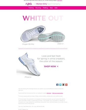 Fresh white sneakers you'll love this season