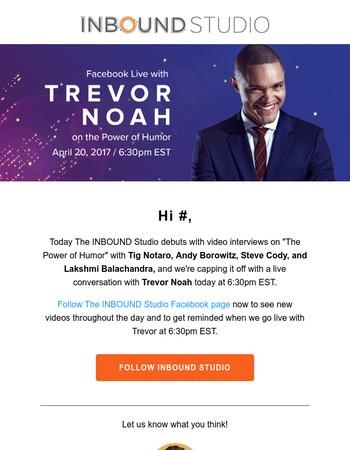 Watch Trevor Noah live TODAY