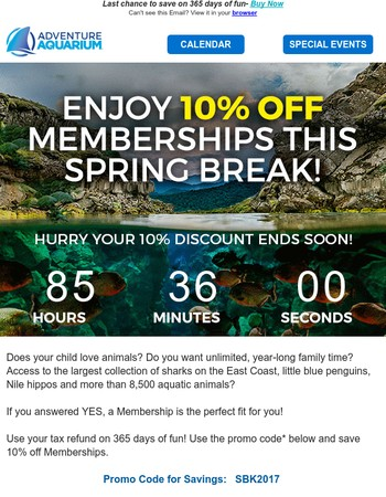 Use your tax refund – Save 10% off Memberships