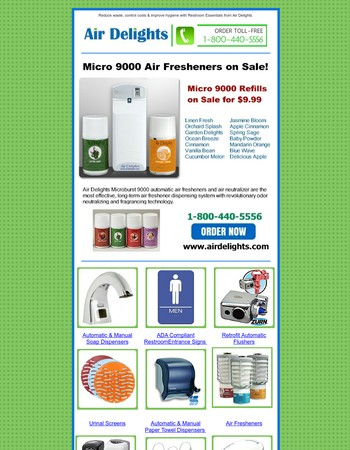 Microburst Air Fresheners on Sale $9.99 at AirDelights.com