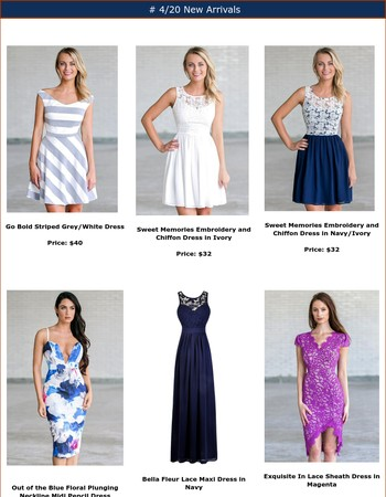 Lily Boutique 4/20 New Arrivals!