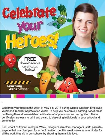 Celebrate your heroes during School Nutrition Employee Week!