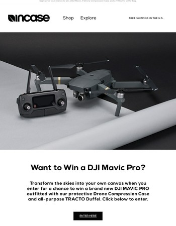 Enter the DJI Mavic Drone Giveaway