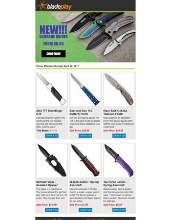 New Schrade Knives!