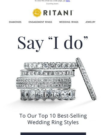 Introducing The Top 10 Best-Selling Wedding Rings
