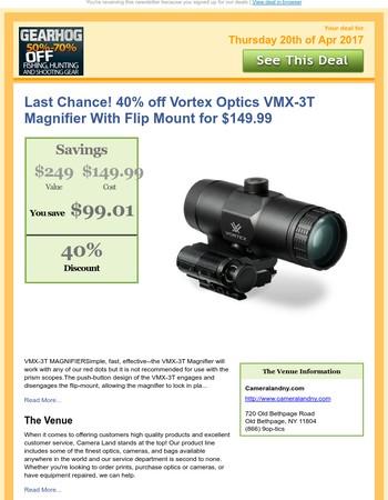 Last Chance! 40% off Vortex Optics VMX-3T Magnifie