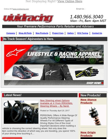 Racing Season is Here with Alpinestars + Great Deals on Rotiform Wheels!