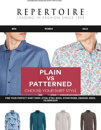 Find Your Perfect Shirt Here | Eton, Etro, Boss, Stenstroms, Emanuel Berg, Vilebrequin