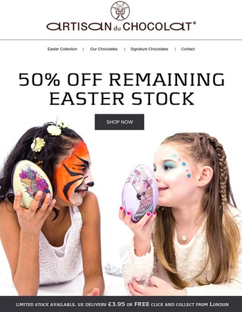 50% OFF Easter Range - Limited Stock