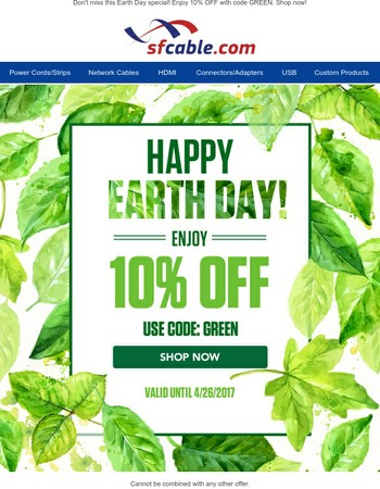 A Special Deal For Earth Day