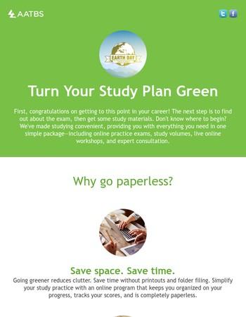 Celebrate Earth Day! Study Green.
