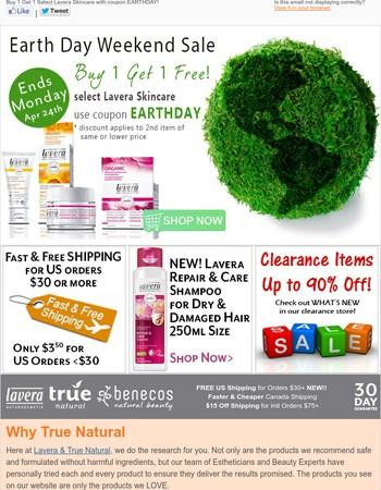 Earth Day Lavera BOGO Sale on Now