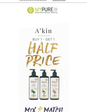 Half Price A'kin Offers