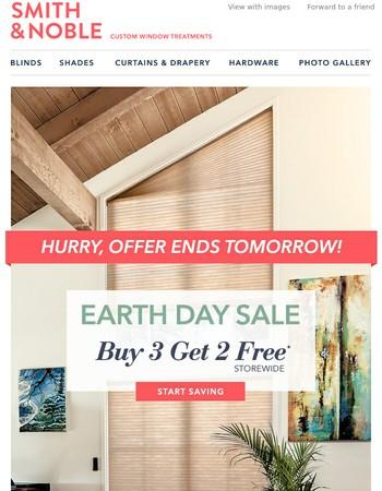 Earth Day Savings Ends Tomorrow! Buy 3 Get 2 Free