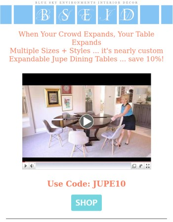 Watch the Expandable Jupe Dining Table in Action!