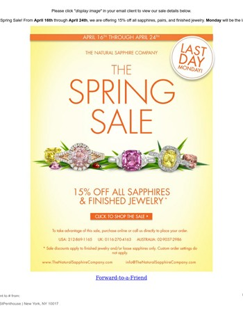 Last Day Sale