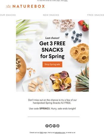 Savor spring flavors - 3 FREE snacks!