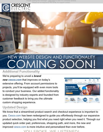 Coming Soon: New Website Design and Functionality!