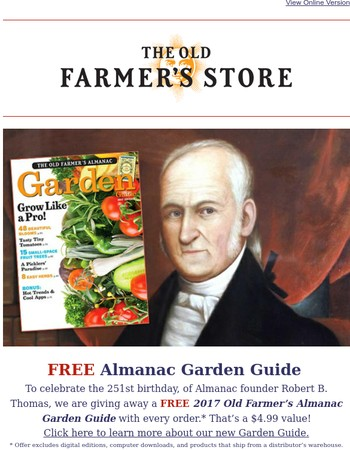 Happy Birthday Robert B. Thomas, Almanac Founder