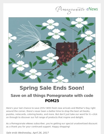 Spring sale ends soon!