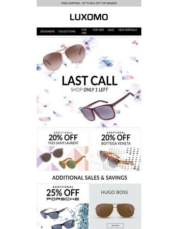 Shop Last Call YSL, Porsche & More