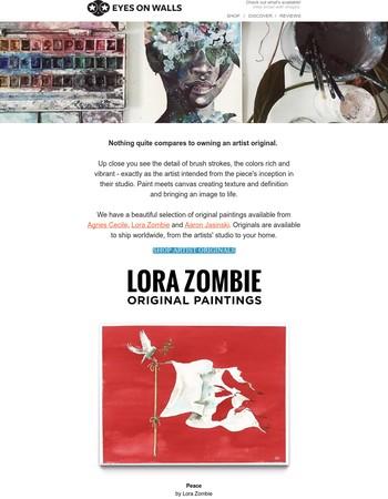 Own an Original Painting - Lora Zombie, Agnes Cecile & Aaron Jasinski