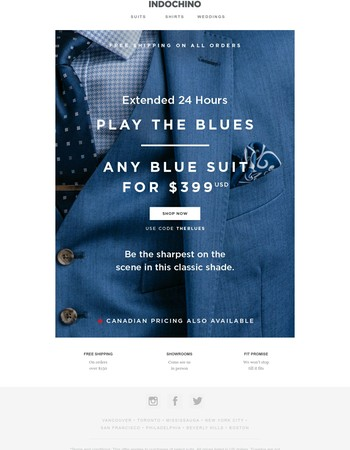 LAST CALL | Blue suits for $399