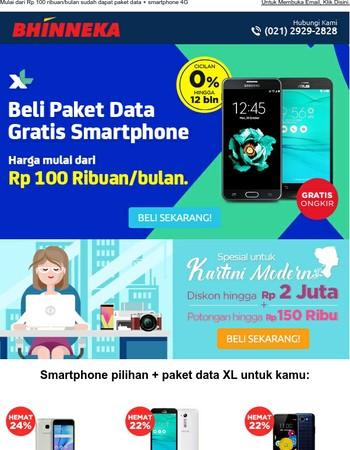 Beli Paket Data XL Gratis Smartphone!