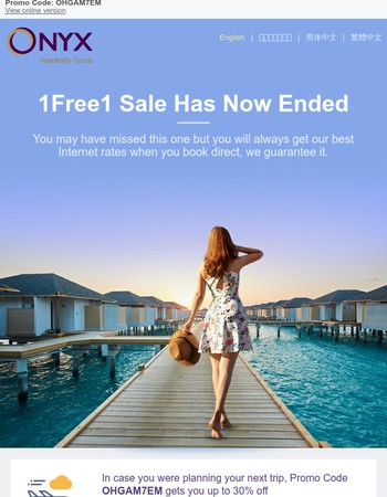 Missed the 1Free1 Sale? Find special Promo Code in here