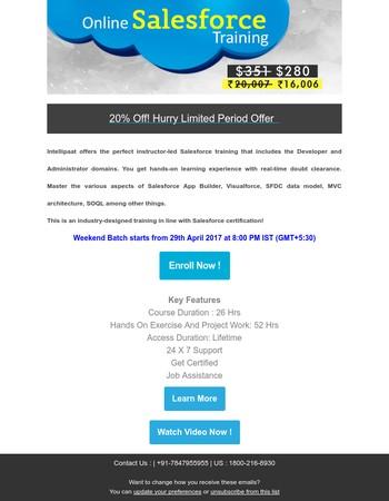 Salesforce Online Training !