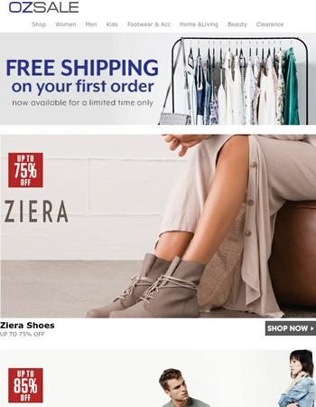 Ziera Shoes: Up to 60% Off | Joe's Jeans | Toms | Revlon | Cooper St, Talulah, Bardot | Casio, Oceanaut & Seapro | The Best Of Beauty Skincare | Barefoot Bungalow