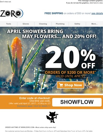 Hey There Lucky, This Is Too Amazing To Miss: Savings Are In Bloom - 20% Off Inside!
