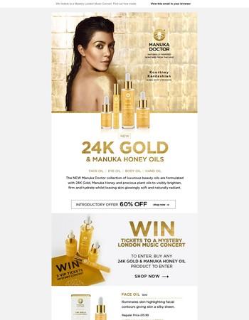 NEW | 24K Gold & Manuka Honey Oils