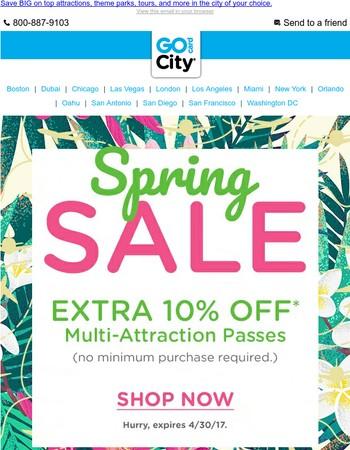 ☀ Hello, Fun-in-the-Sun! EXTRA 10% off Go City Cards