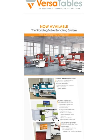 Now Available - The Standing Table Benching System!!