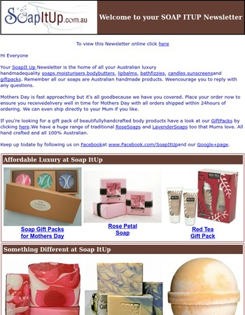 Mothers Day Gift Ideas including Rose Soaps and Gift Packs