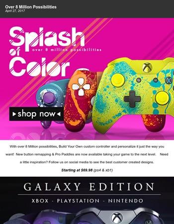 Splash of Color - Over 8 Million Possibilities