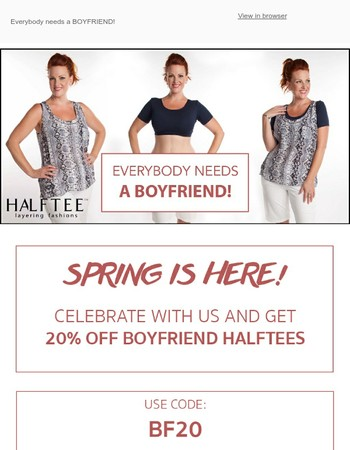 All Boyfriend Halftees 20% off!