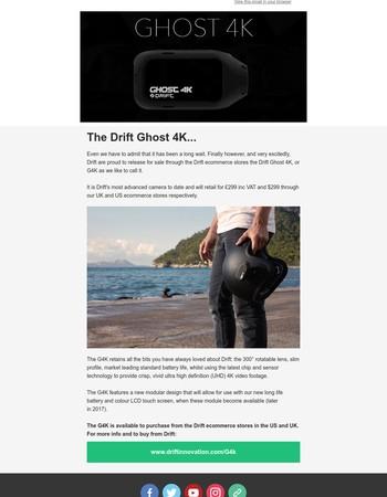 Drift Ghost 4K - Now available on Drift e-commerce sites