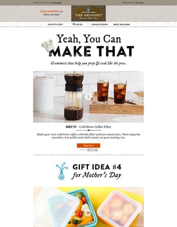 Make cold brew coffee in a mason jar.