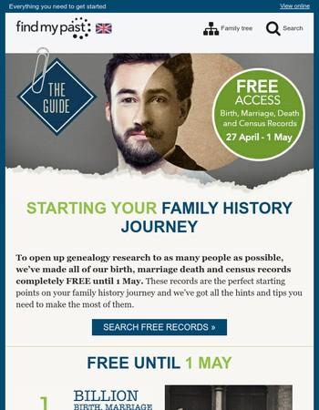 FREE birth, marriage, death & census records