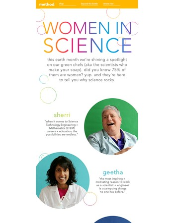celebrating the planet + women in science