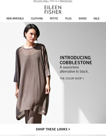 Go Beyond Black. Introducing Cobblestone.