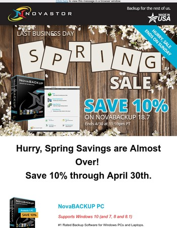 LAST DAYS: Spring Sale Ends Soon