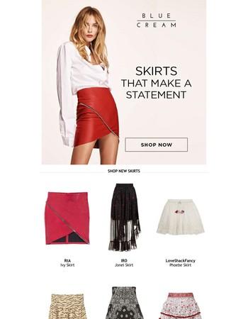 Ditch the pants   It's skirt season!