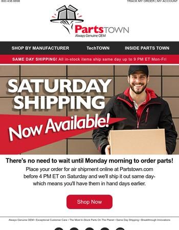 Now Shipping Saturdays!