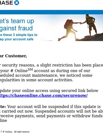 New Secure Message from Chase Online(SM)