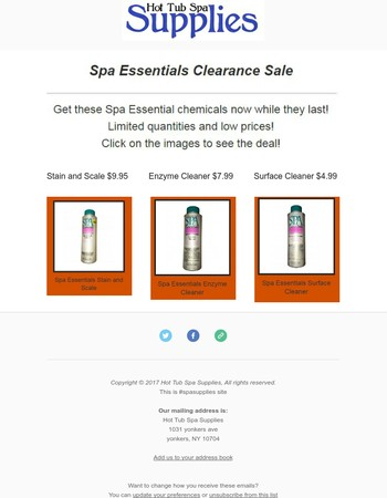 Clearance Chemicals on Sale