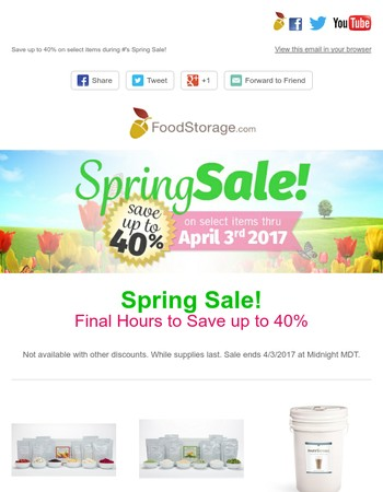Last Hours of Our Spring Sale!