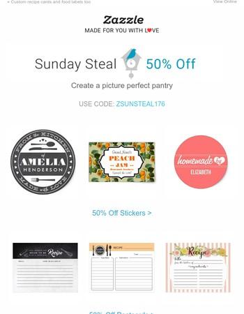 Sunday Steal: 50% Off Binders, Mason Jars & More